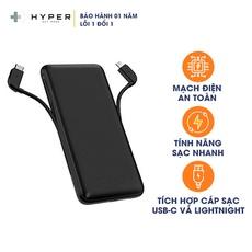 Pin Sạc dự phòng HyperJuice USB-C + Lightning 18W 10000mAh - Hàng Chính Hãng Nguyên Hộp