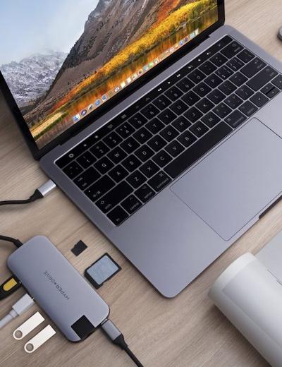 Cổng chuyển HYPERDRIVE SLIM 8 in 1 USB-C - Hàng Chính Hãng Nguyên Hộp