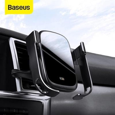Kẹp Điện Thoại Ôtô Tự Động Đóng Mở Baseus Rock-Solid Vehicle Mounted Holder Wireless Charger (WXHW01-01)