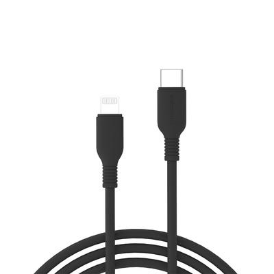 Cáp sạc nhanh Innostyle Jazzy 18W USB-C to Lightning 1.2M Chuẩn MFi Cho iPhone (ICL120TBLK)