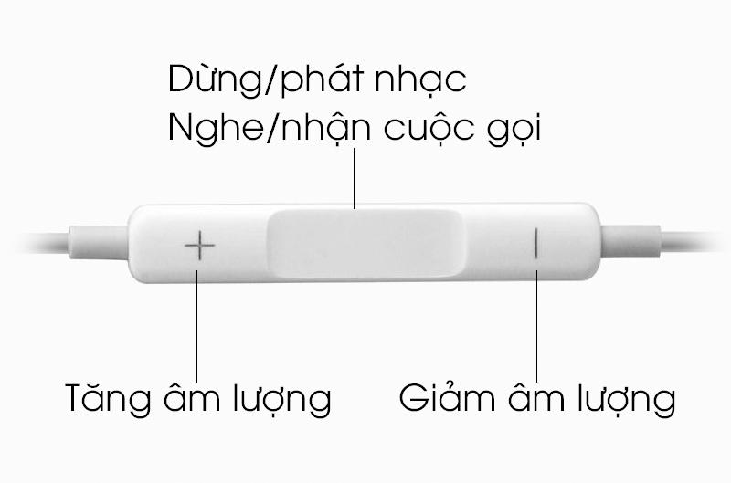 Tai nghe nhét trong Apple MD827FE-A - Nút ấn tương tác tốt