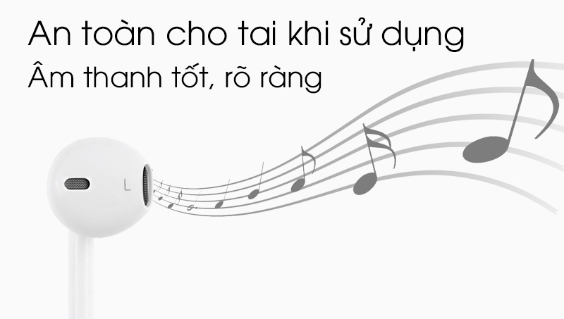 Tai nghe nhét trong Apple MD827FE-A - Âm thanh tốt