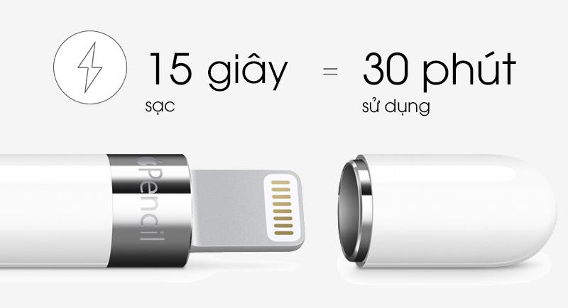 Apple pencil - thời gian sử dụng pin