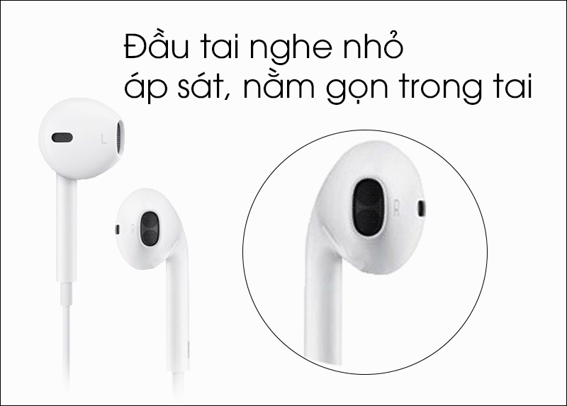 Tai nghe EarPods cổng Lightning Apple MMTN2 - Thiết kế vừa vặn với tai