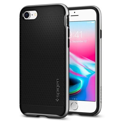 Ốp lưng iPhone 7/8 Spigen Neo Hybrid Crystal 2 Satin Silver (054CS22359)