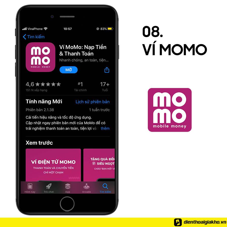 Ví điện tử Momo giúp bạn có thể dễ dàng thanh toán tại những cửa hàng tiện lợi, rạp chiếu phim, quán cà phê,....