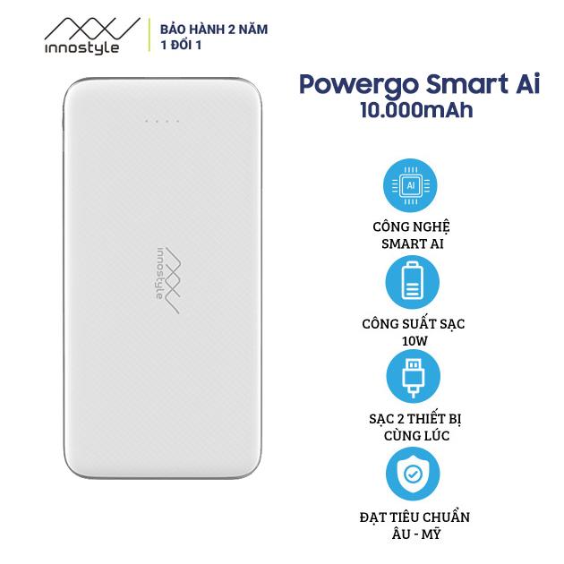 Pin Sạc Dự Phòng Innostyle PowerGo Smart AI 10000mAh - Hàng Chính Hãng Nguyên Hộp