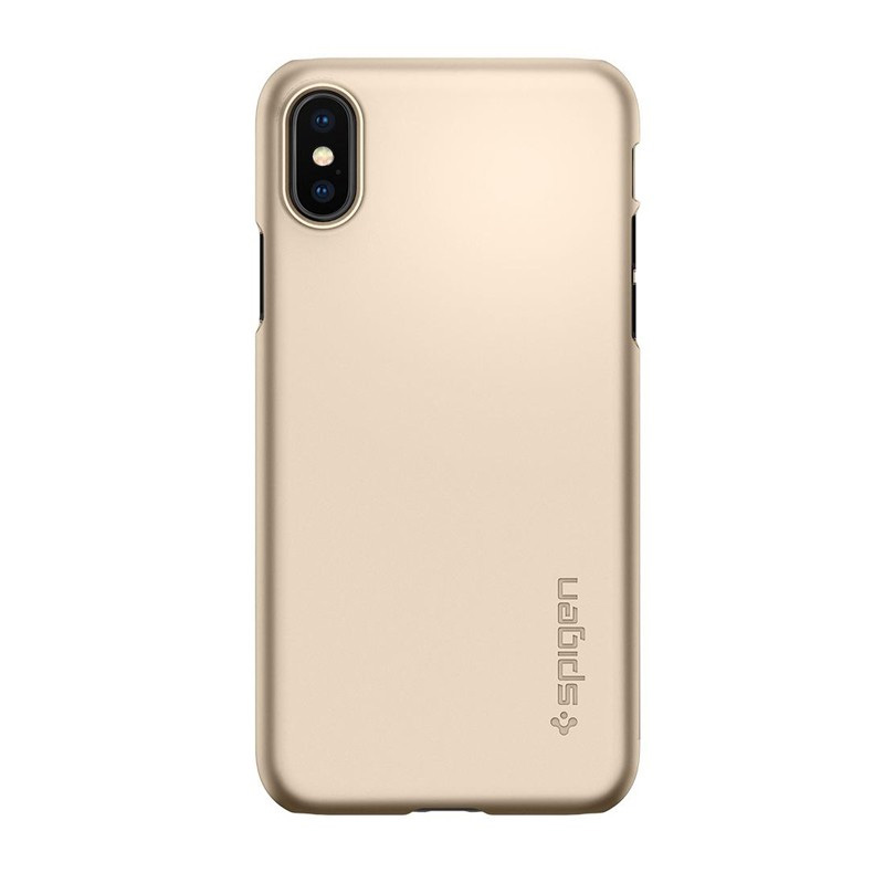 Ốp lưng iPhone X Spigen Thin Fit Champagne Gold (057CS22111)