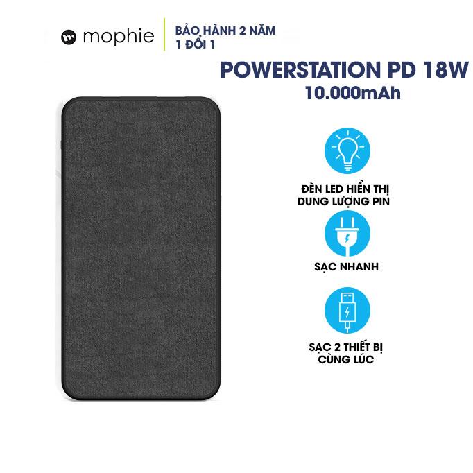 Pin Sạc Dự Phòng Mophie Powerstation PD 18W 10000mAh - Hàng Chính Hãng Nguyên Hộp