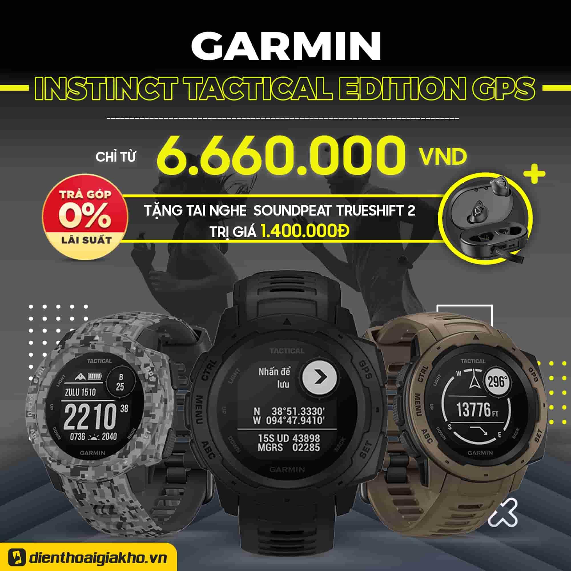 Garmin Watch Instinct Tactical Edition GPS Chính Hãng
