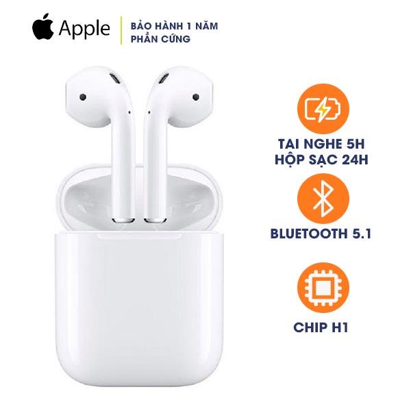 Tai nghe Apple Airpods 2 Hộp Sạc Có Dây Chính Hãng VN/A