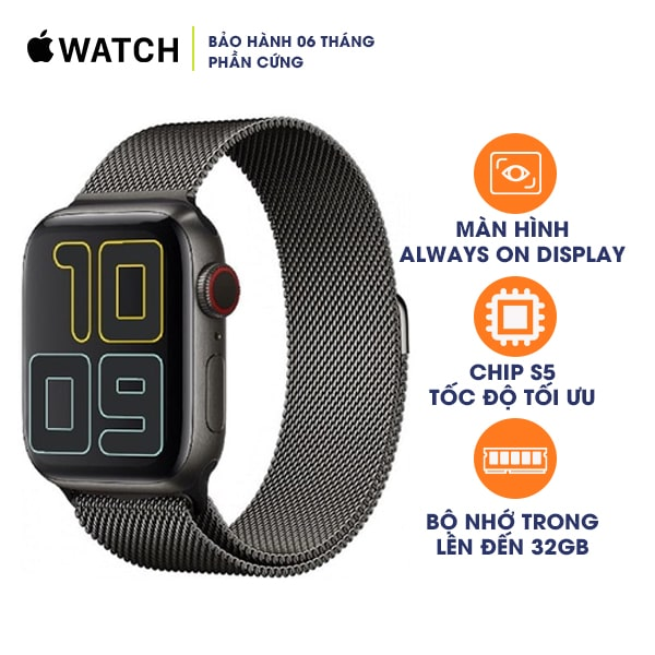 Apple Watch Series 5 44mm LTE Stainless Steel Cũ 99%