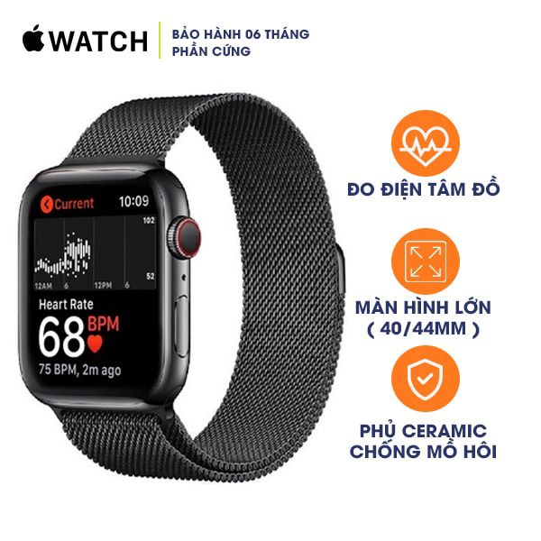 Apple Watch Series 4 44mm LTE Stainless Steel Cũ 99%