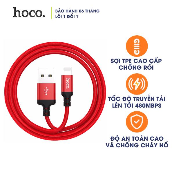 Cáp sạc Lightning HOCO X14 1m (Hàng Chính Hãng)