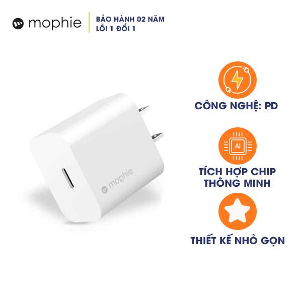 Cốc Sạc nhanh Mophie Power Delivery 20W USB-C (Hàng Chính Hãng)
