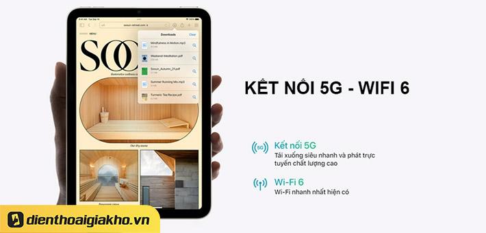 Khả năng truyền tải dữ liệu 5G trên iPad Mini 6 2021